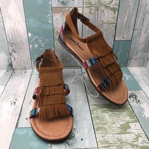 "Minnetonka ""Maui"" Leather Sandals Size 6 New"